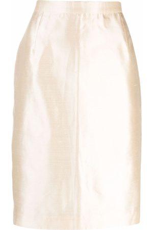 Yves Saint Laurent Damen Bleistiftröcke - 2000s hoch sitzender Bleistiftrock - Nude