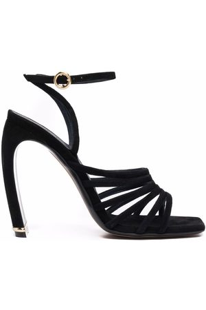 Lanvin Square-toe suede heeled sandals