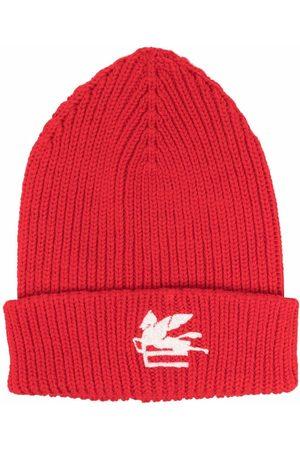 Etro Herren Hüte - Embroidered-logo knitted beanie