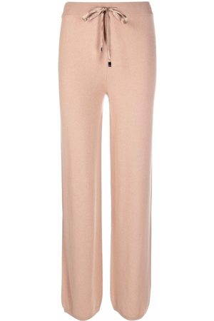 PESERICO SIGN Drawstring straight trousers - Nude