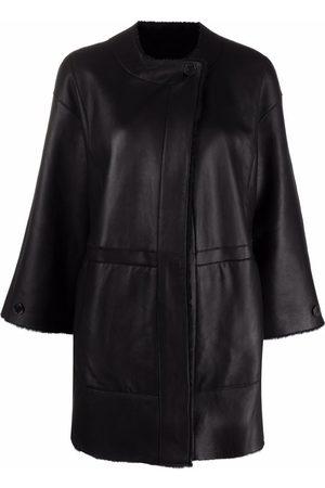Drome Crop-sleeves shearling jacket