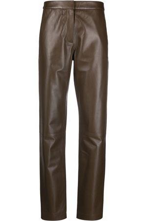 FEDERICA TOSI Damen Leder & Lederimitathosen - Straight-leg leather trousers