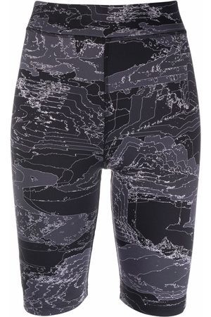MCQ High-rise fitted cycling shorts