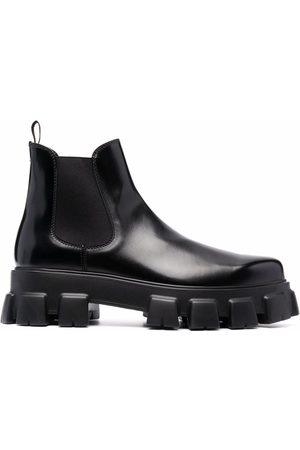 Prada Monolith brushed-effect Chelsea boots