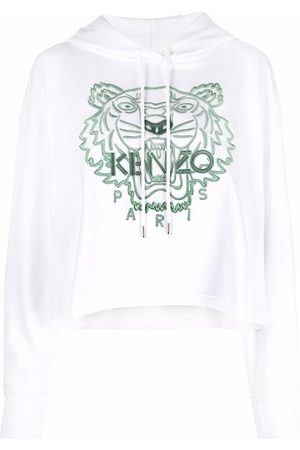 Kenzo Tiger-embroidered cotton hoodie