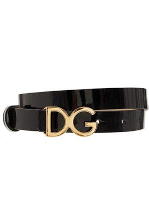 Dolce & Gabbana Ledergürtel Mit Logoschnalle