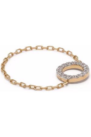 DJULA Damen Ringe - 18kt Gelbgoldring mit Diamanten