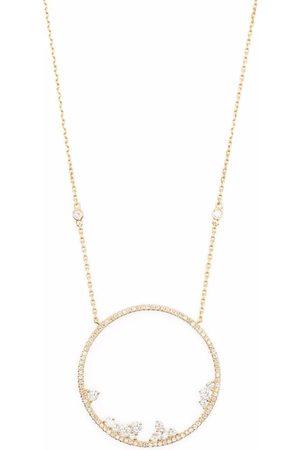 DJULA 18kt yellow circle point diamond necklace