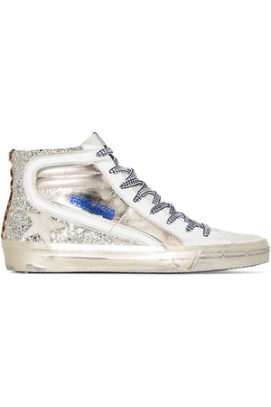 Golden Goose Glitter slide high top sneakers