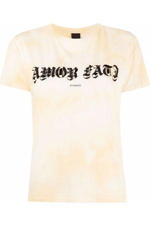 Pinko Verziertes T-Shirt mit Batikmuster