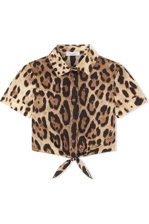 Dolce & Gabbana Mädchen Blusen - Hemd mit Leoparden-Print
