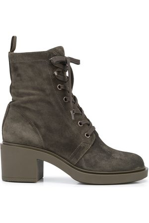 Gianvito Rossi Damen Stiefeletten - Lace-up suede ankle boots