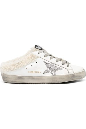 Golden Goose Superstar shearling-lined lace-up trainers