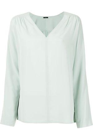 Joseph Damen Blusen - V-neck silk blouse