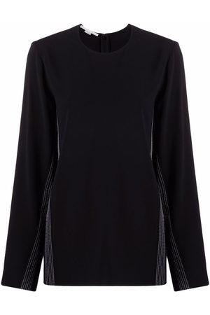 Stella McCartney Damen Sweatshirts - Contrast stripe sweatshirt
