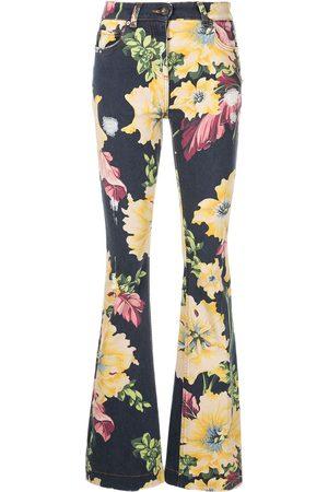 Etro Damen Bootcut - Floral-print flared jeans