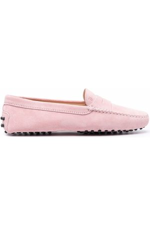Tod's Almond toe suede loafers