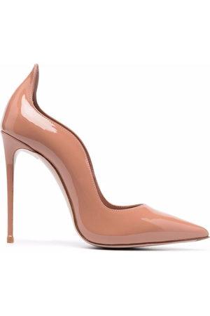 LE SILLA Damen Pumps - Wave-edge patent leather pumps - Nude