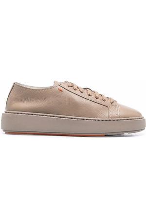 santoni Damen Schnürschuhe - Lace-up leather sneakers
