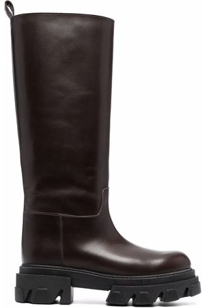 P.a.r.o.s.h. Damen Stiefeletten - Knee-high leather boots