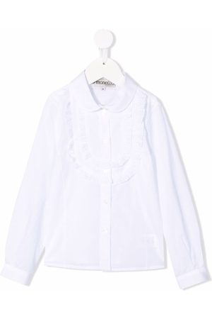 Simonetta Mädchen Longsleeves - Ruffled-detail long-sleeve shirt