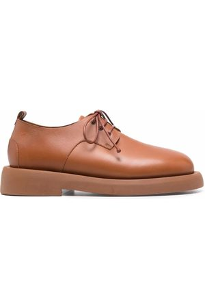 MARSÈLL Leather lace-up shoes - Nude