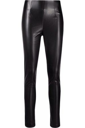 Twin-Set Eco-leather high-waist leggings