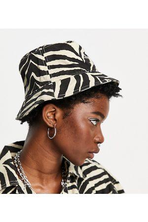 Reclaimed Inspired – Anglerhut mit Zebramuster, Kombiteil-Mehrfarbig