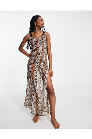 Brave Soul – Strandkleid mit Leopardenmuster und tiefem Rückenausschnitt