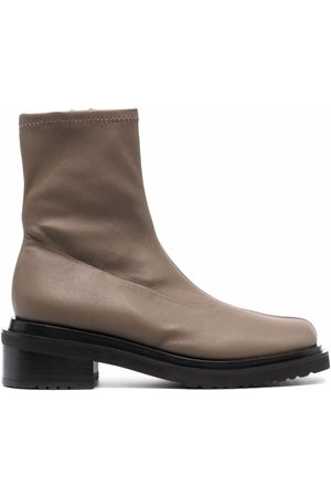 By Far Zip-up leather boots