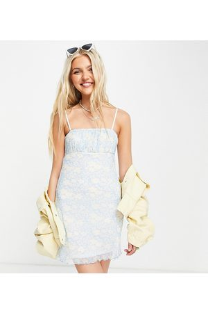 Daisy Street – Mini-Camisole-Kleid mit Raffung und Blümchenmuster