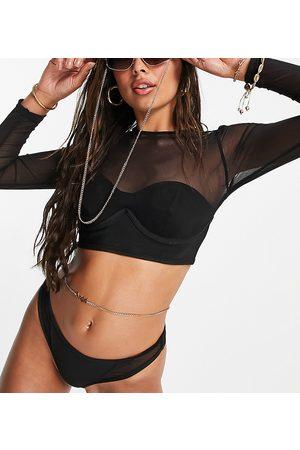 Public Desire – Bikinioberteil mit Netzstoff, Bügeln und Bandagendesign in