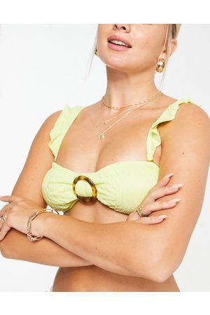 South Beach – Bandeau-Bikinioberteil mit Rüschendetail in