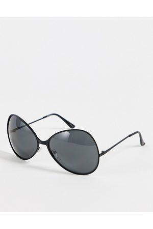 Jeepers Peepers – Runde Oversize-Sonnenbrille für Damen in