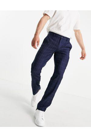French Connection Herren Chinos - – Schmal geschnittene Hose mit kleinem Karomuster