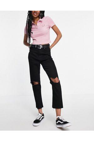 Brave Soul – Seba – Mom-Jeans mit Zierrissen an den Knien