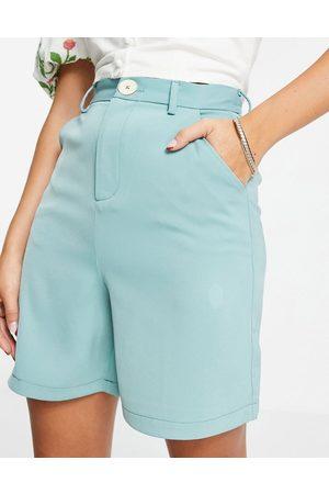 Fashion Union Damen Shorts - – Dad-Shorts mit hoher Taille, Kombiteil