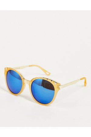 Jeepers Peepers Damen Sonnenbrillen - – Cateye-Sonnenbrille mit verspiegelten Gläsern