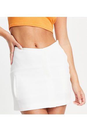 AsYou Damen Miniröcke - – Minirock in Ecru mit hohem Bund