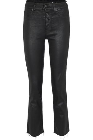 7 for all Mankind High-Rise Cropped Jeans The Straight