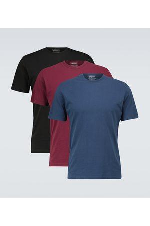 Maison Margiela Set aus drei T-Shirts aus Baumwolle