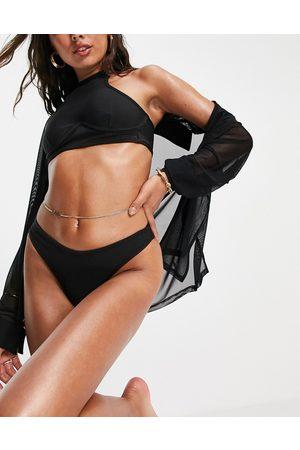 Public Desire – Bikinihose mit hohem Beinausschnitt und Bandagendesign in