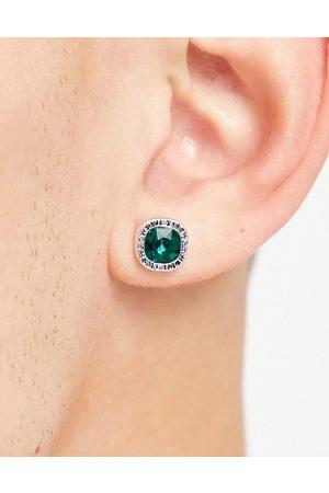 WFTW Herren Ohrringe - – Ohrstecker mit grünem Kristall
