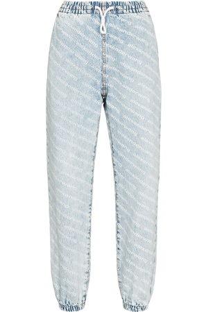 Alexander Wang Damen High Waisted - Wide leg jean jogging trousers