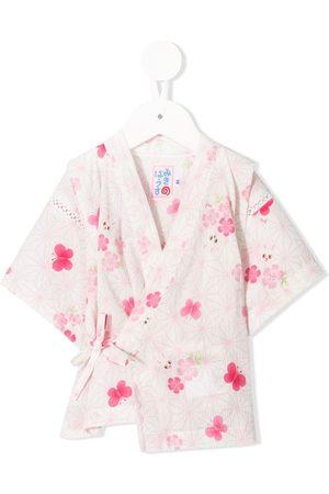 Miki House Mädchen Schlafanzüge - Pyjama im Kimono-Look