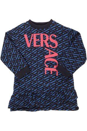 VERSACE Baumwollkleid Mit Logodruck