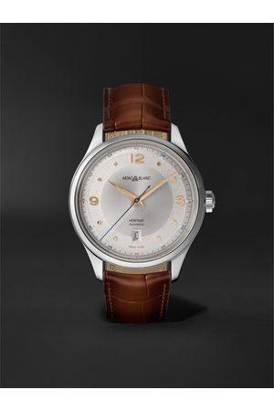 Montblanc Herren Uhren - Heritage Automatic 40mm Stainless Steel and Alligator Watch, Ref. No. 128672