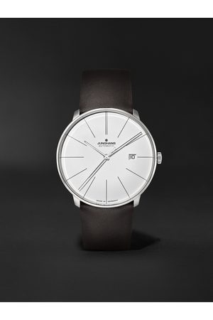 Junghans Herren Uhren - Meister Fein Automatic 39.5mm Stainless Steel and Leather Watch, Ref. No. 27/4152.00