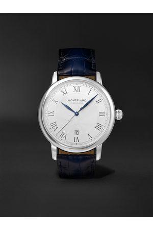Montblanc Herren Uhren - Star Legacy Automatic 42mm Stainless Steel and Alligator Watch, Ref. No. 119956