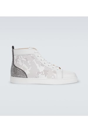 Christian Louboutin High-Top-Sneakers Louis Sp Strass